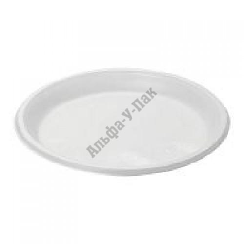 Тарелка одноразовая Мистерия белая 220мм 100 штук в упаковке