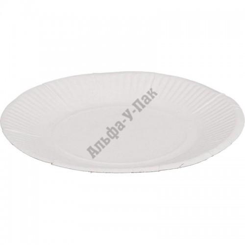 Тарелка бумажная Мистерия белая 170мм 100 штук в упаковке