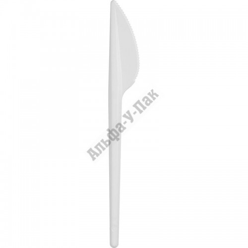Нож одноразовый Мистерия белый 165мм 100 штук в упаковке