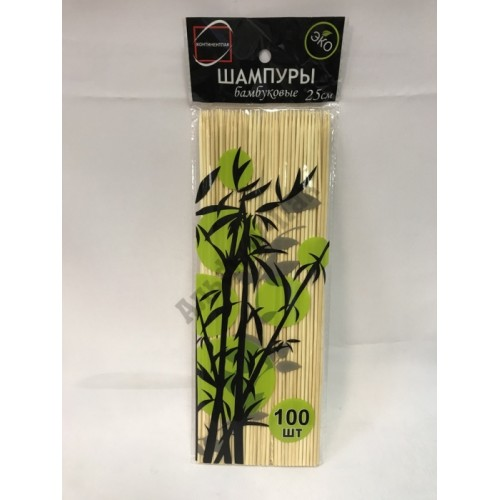 Набор стеков бамбуковых длина 25см 100 штук в упаковке