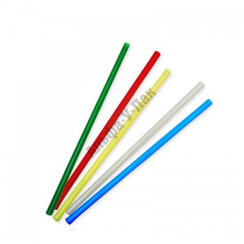 Трубочки для коктейля без изгиба в ассортименте длина 21см 250 штук в упаковке