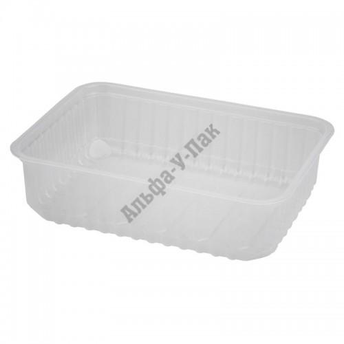 Одноразовый контейнер Стиролпласт 0,750л прозрачный (108х82мм)