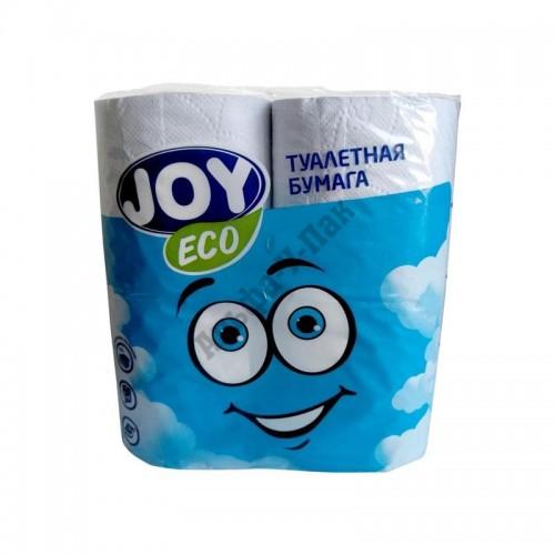 Туалетная бумага Joy Eco 2-слойная белая 4 рулона в упаковке