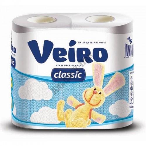 Туалетная бумага Veiro Classic 3-слойная белая (4 рулона в упаковке
