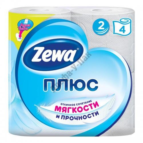 Туалетная бумага Zewa Плюс 2-слойная белая (4 рулона в упаковке)