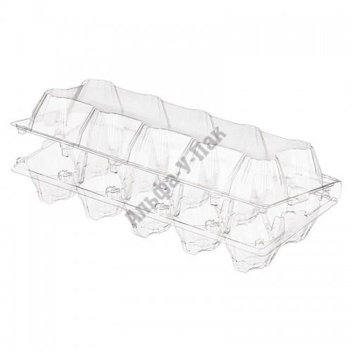 Контейнер для куриных яиц прозрачный ПЭТ UE-10 (245х105х75мм) 300 штук в упаковке