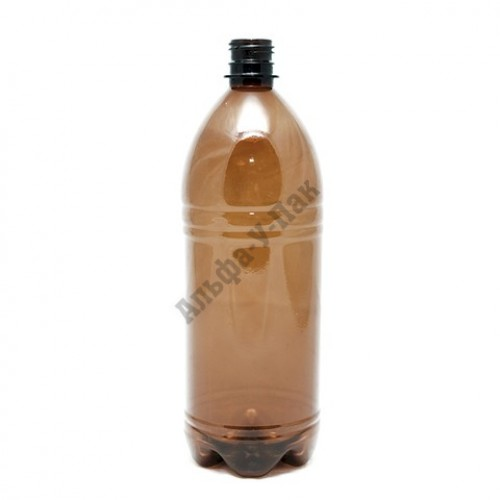 Бутылка пластиковая коричневая 1500мл (диаметр горла 28мм) 60 штук в упаковке