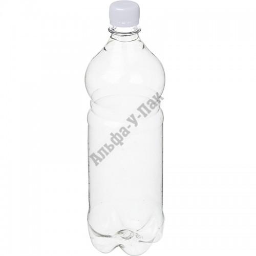 Бутылка пластиковая прозрачная 1000мл (диаметр горла 28мм) 77 штук в упаковке