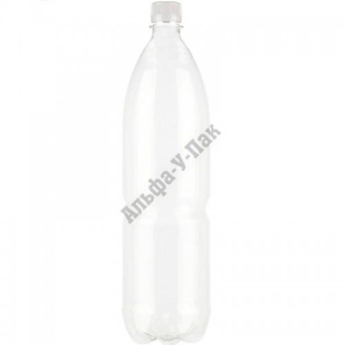 Бутылка пластиковая прозрачная 1500мл (диаметр горла 28мм) 60 штук в упаковке
