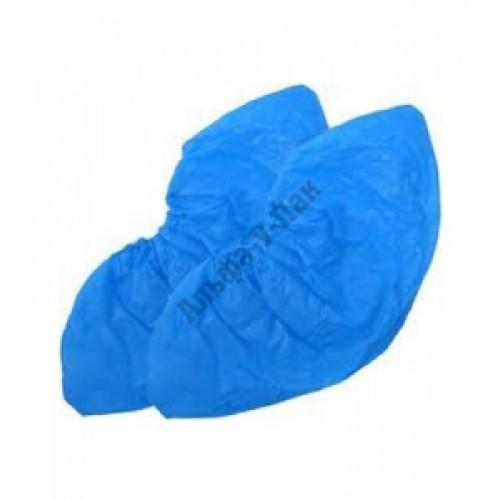 Бахилы одноразовые полиэтиленовые синие