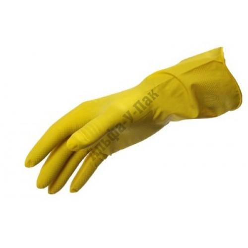 Перчатки хозяйственные резиновые TexTop эконом размер S,M,L,XL