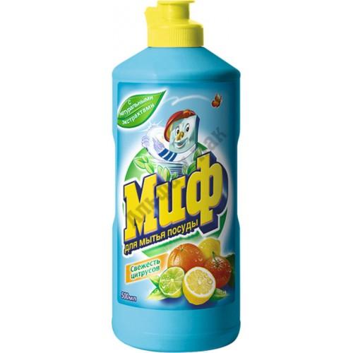 Средство для мытья посуды Миф 500 мл Свежесть цитрусов