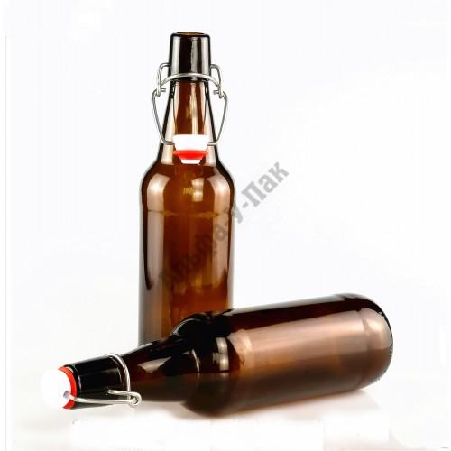 Бутылка 1000 мл с бугельной пробкой