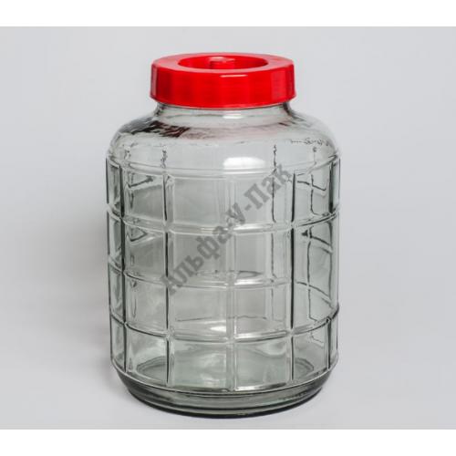 Бутыль 18л с гидрозатвором