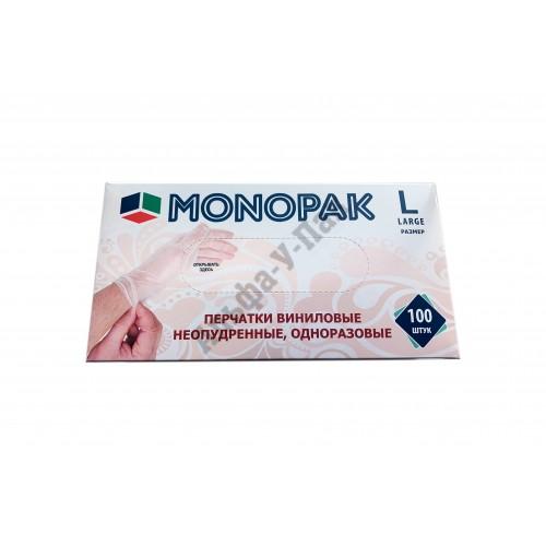 Перчатки винил MONOPAK